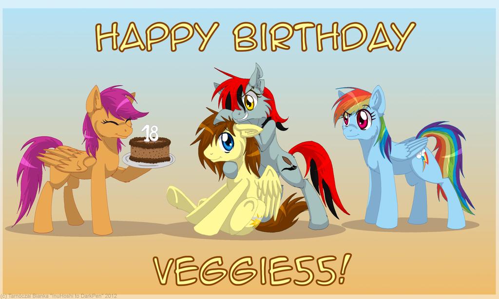 Happy Birthday, Veggie55! by InuHoshi-to-DarkPen