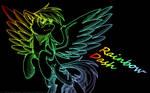 Neon Rainbow Dash