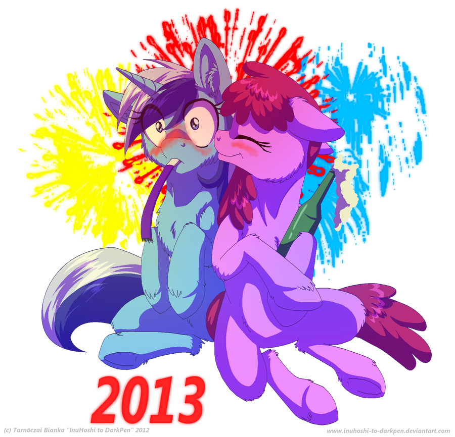 Happy New Year! - 2012-2013 by InuHoshi-to-DarkPen