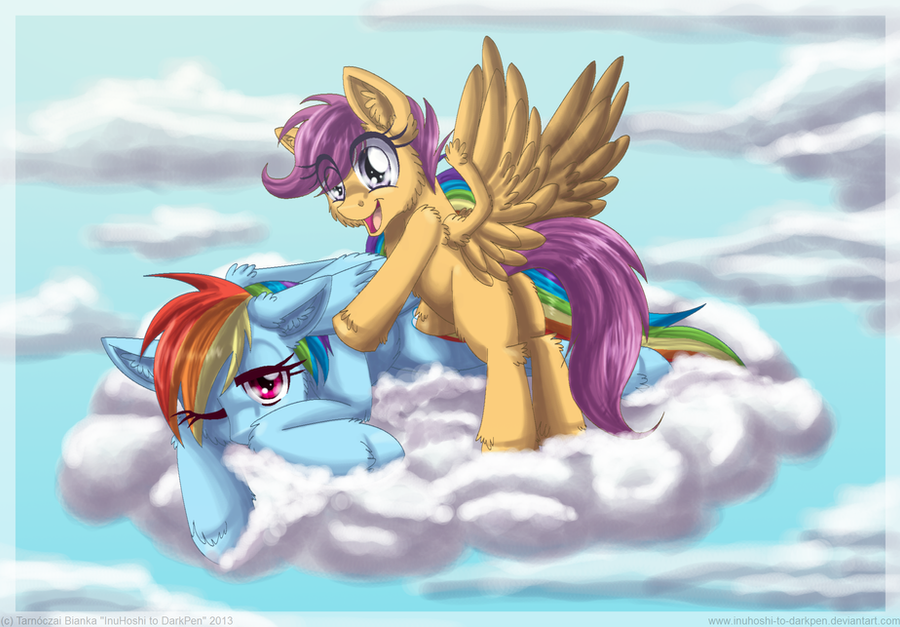 Begging for Flying Lessons by InuHoshi-to-DarkPen