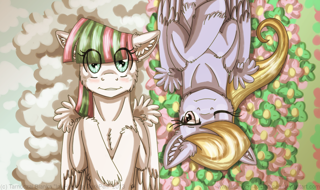 Clouds and Blossoms by InuHoshi-to-DarkPen