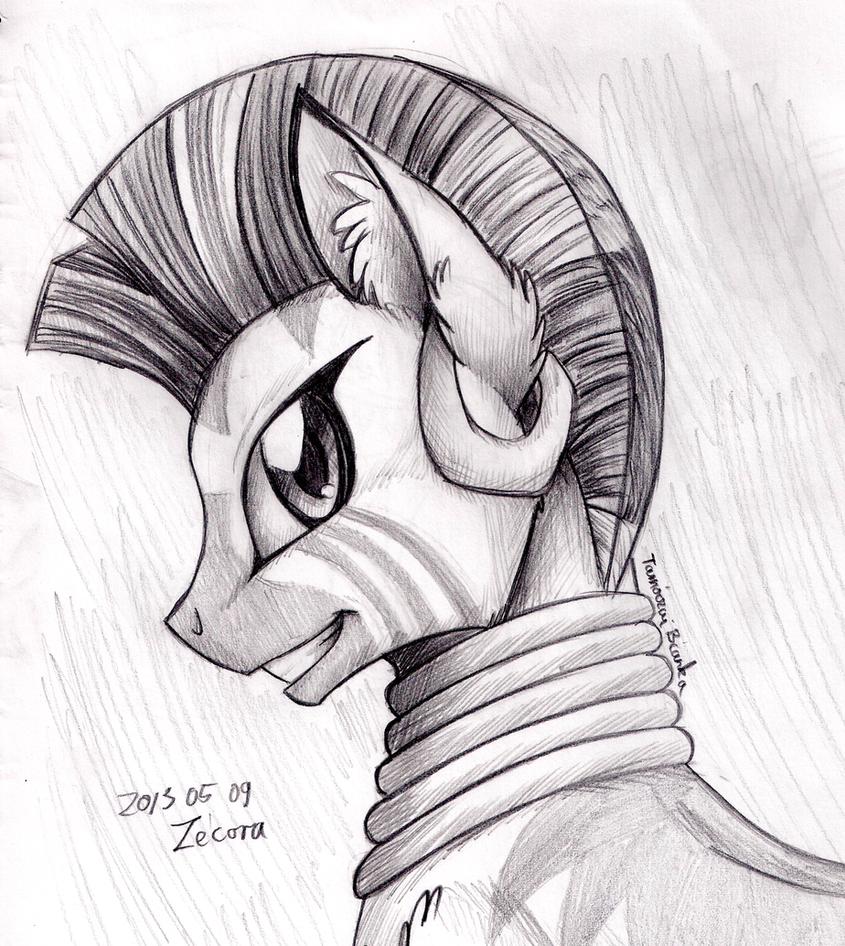 Pencil Portrait - Zecora by InuHoshi-to-DarkPen