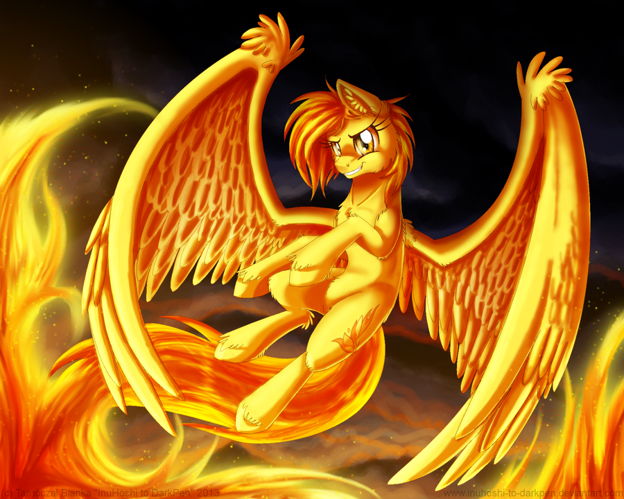 Spirit of Fire by InuHoshi-to-DarkPen