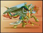 Battle Armored Rainbow Dash