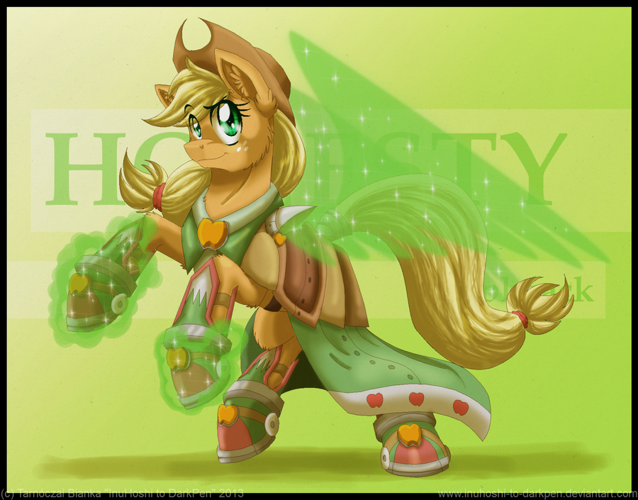 battle_armored_applejack_by_inuhoshi_to_