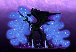 Queen of the Eternal Night - Nightmare Moon by InuHoshi-to-DarkPen