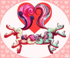 Sweethearts - Happy Valentine's Day - 2015 by InuHoshi-to-DarkPen