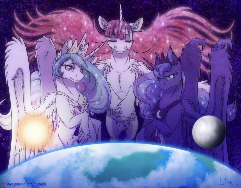 The Sun, the Moon and the Universe by InuHoshi-to-DarkPen