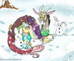 Snow Bunnies by InuHoshi-to-DarkPen