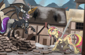 Fight of Coldharbor by InuHoshi-to-DarkPen