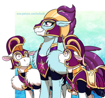 <b>MLP:YL - Hippogriff Of The Friendship Guards</b><br><i>InuHoshi-to-DarkPen</i>
