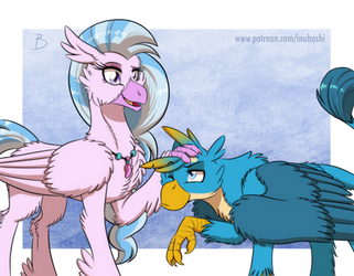 MLP:YL - Tall Bird, Short Bird by InuHoshi-to-DarkPen