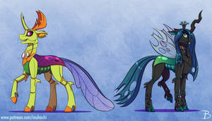 King Thorax and Queen Chrysalis