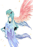Vocaloid-rainbow color wings by siruphial