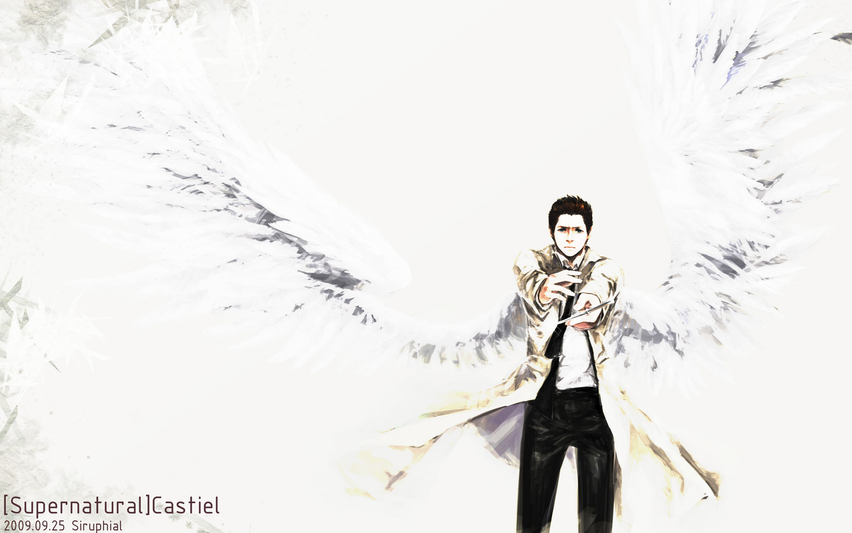SPN-the warrior Castiel by siruphial