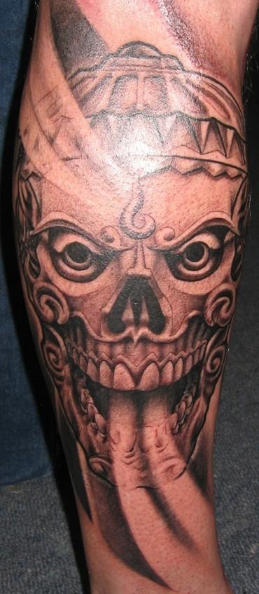 tibetan skull tattoo by mpdesign on deviantart