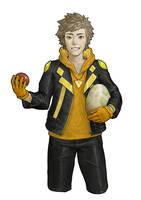 Pokemon Go. Leader Team Instinct -- Spark by Freppechoco