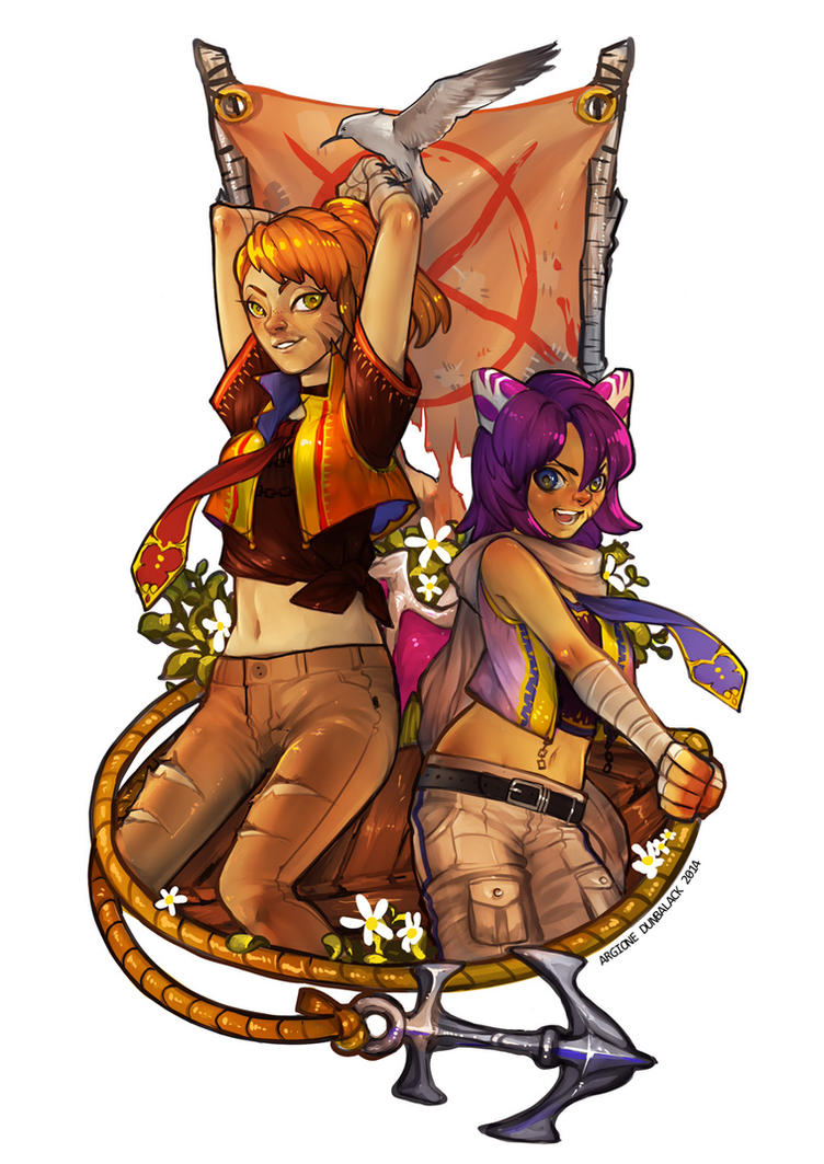 Commission: Anna and Indi by IndahAlditha