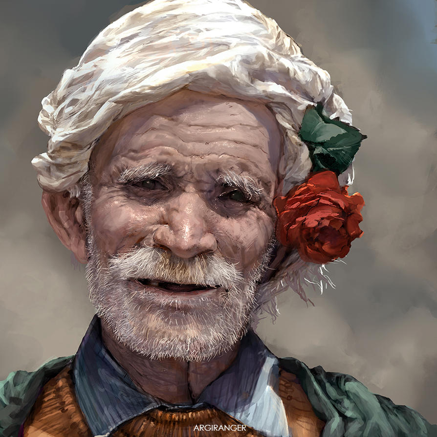 Happy Old Man by IndahAlditha