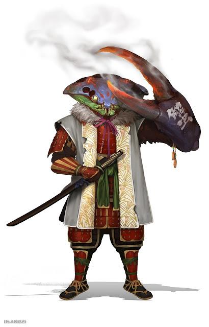 Crab Samurai by IndahAlditha