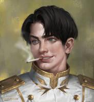 Commission - Smoking Dude by IndahAlditha