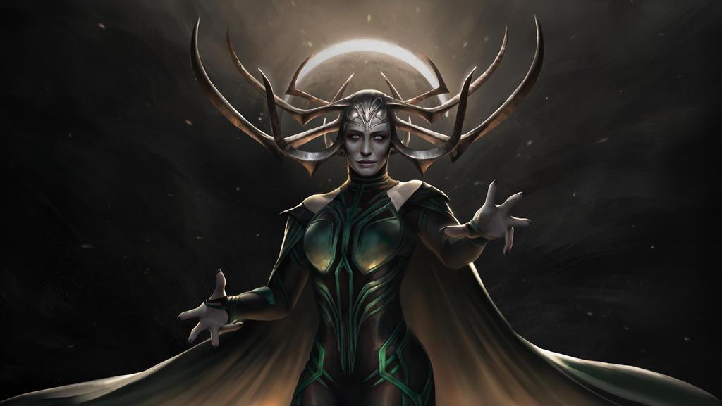 Hela - The Goddess of Death by IndahAlditha