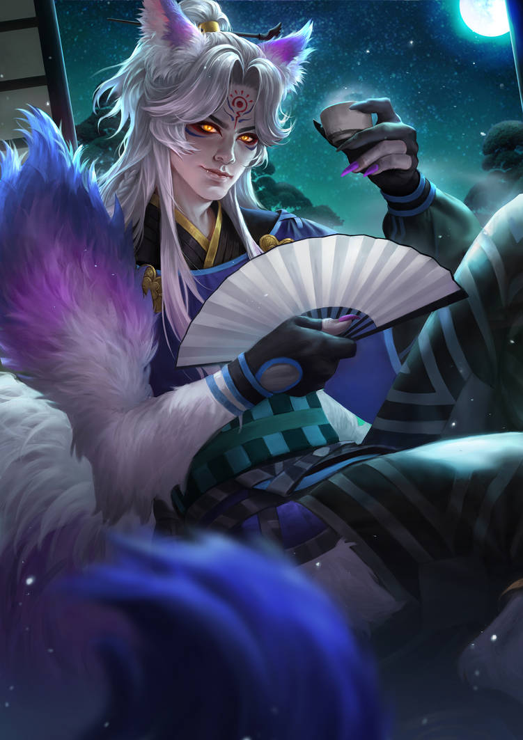 Onmyoji Fan Art Contest - Youko by IndahAlditha