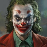 Joaquin Phoenix Joker Fan Art by IndahAlditha