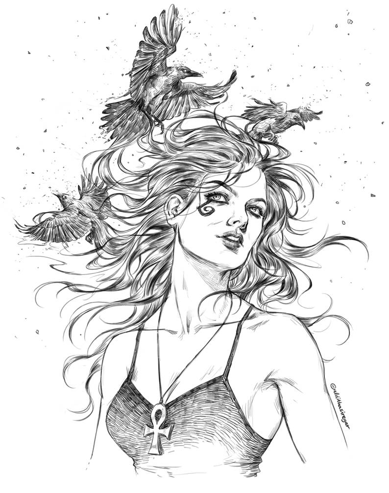 Commission : Death, The Sandman Series by IndahAlditha