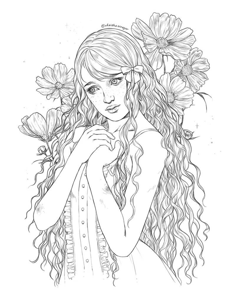 Commission : Winifred Sawyer by IndahAlditha
