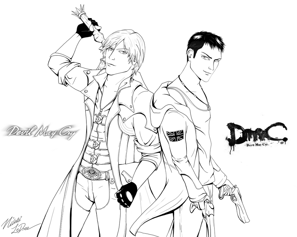 devil may cry coloring pages - photo#1