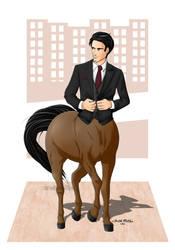 Business-centaur OC by Yunaelys