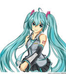 Colored Hatsune Miku Lineart