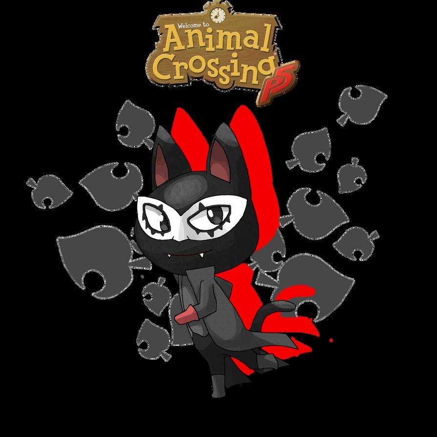 Animalcrossing X Persona 5 Joker By Skallhati On Deviantart