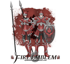 FireEmblemXPokemon Fire Clan Knight by Skallhati