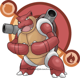 EVERYBODY is Fire/Fighting! #3: Blastoise by Skallhati