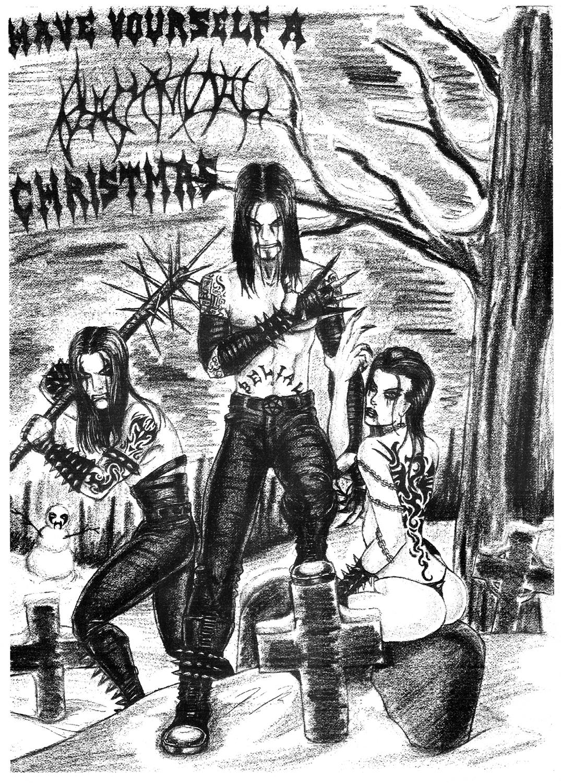 Black metal christmas by vondread on deviantart