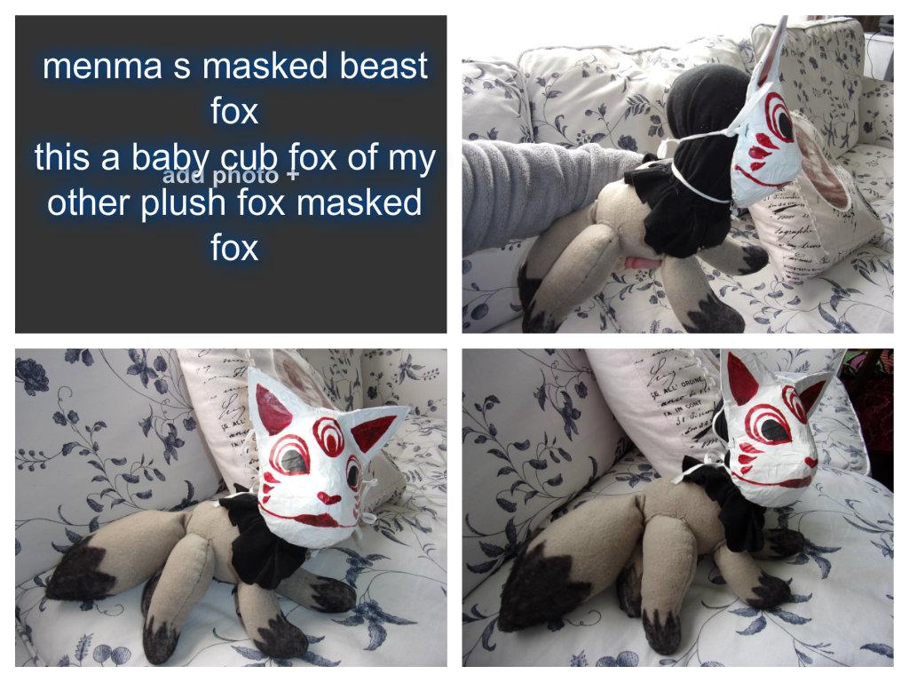 baby cub masked fox by teazuko