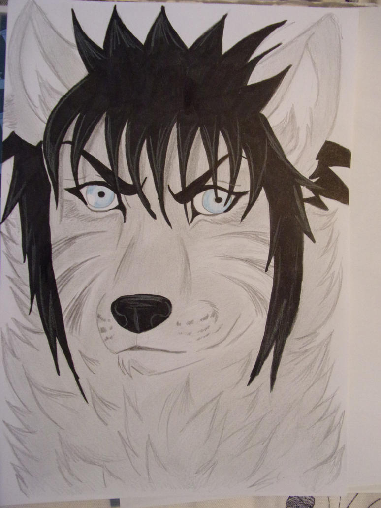 menma as wolf by teazuko