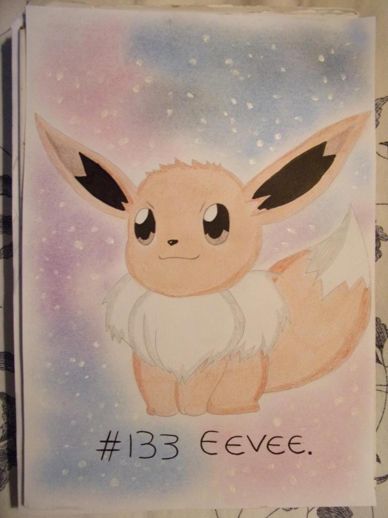 eevee card or letter paper by teazuko