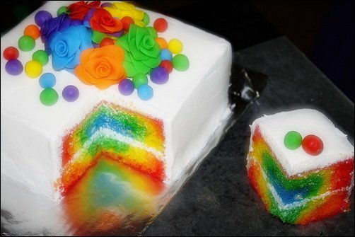 rainbow cake by VampireKayla101