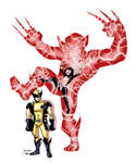 Armor Taunts the Wolverine