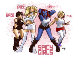 Spicy Comic Girls by caanantheartboy
