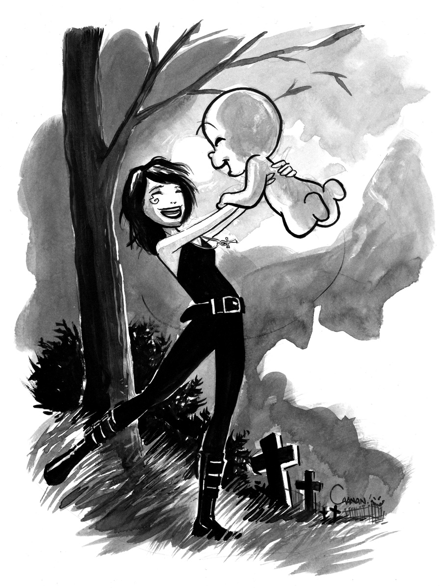 Death and Casper by caanantheartboy