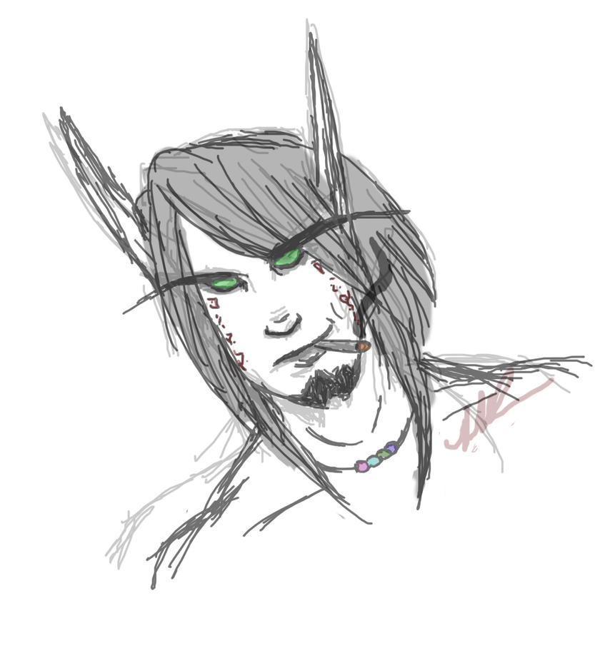 Keth'Aelsar Doodle by Musing-Zero