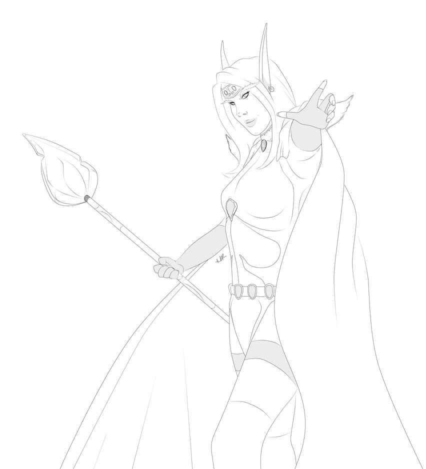 Line Art: Magistrix Reluma Shadowgale by Musing-Zero