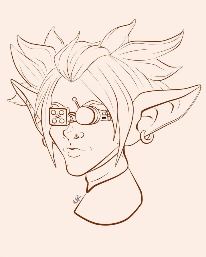 WIP Portrait: Goblin Female by Musing-Zero
