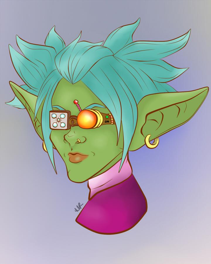 Portrait: Goblin Female by Musing-Zero