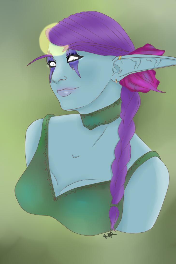 Portrait: Night Elf by Musing-Zero