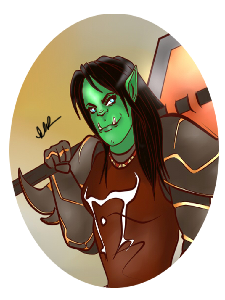 Portrait: Orc Lady by Musing-Zero